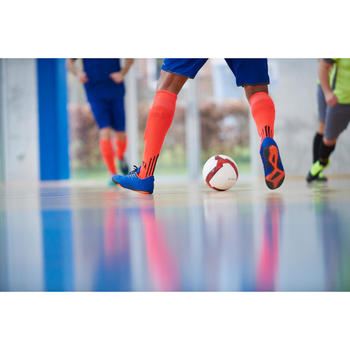 Hallenschuhe Futsal Fußball CLR 300 Erwachsene blau/orange