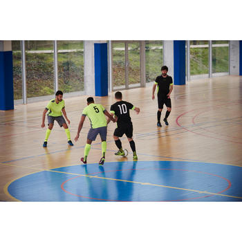 Futsalball 900 Fußball 63cm weiß/grau