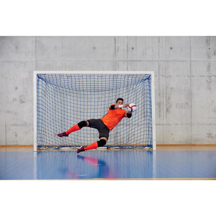 Futsalball 500 Fußball Hybrid 63cm weiß/rot