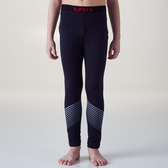 Mallas largas cálidas y transpirables niños Keepdry 900 negro cintura roja