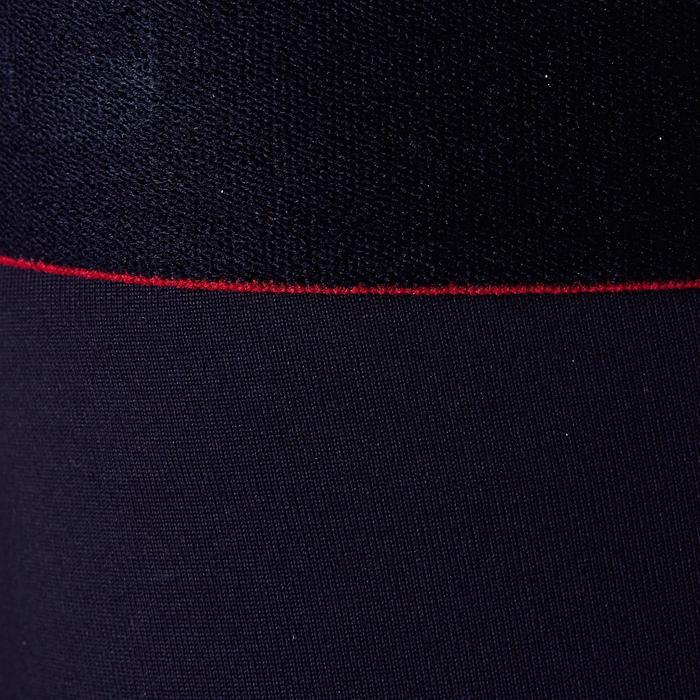 Collant enfant Keepdry 900 chaud et respirant noir, ceinture rouge