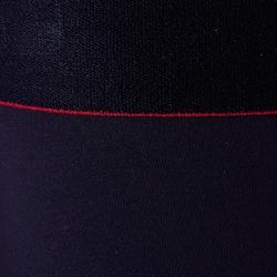 兒童款保暖透氣緊身褲Keepdry 900-黑底紅帶