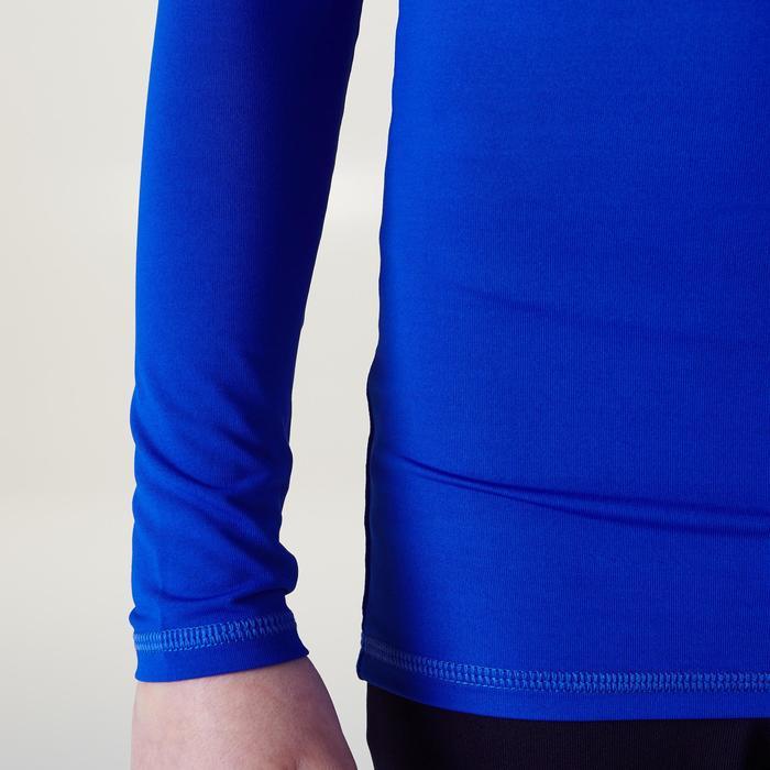 Camiseta térmica transpirable manga larga niños Keepdry 100 escapulario azul