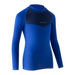 Keepdry 100 Kids' Breathable Long-Sleeved Base Layer - Blue Shoulder