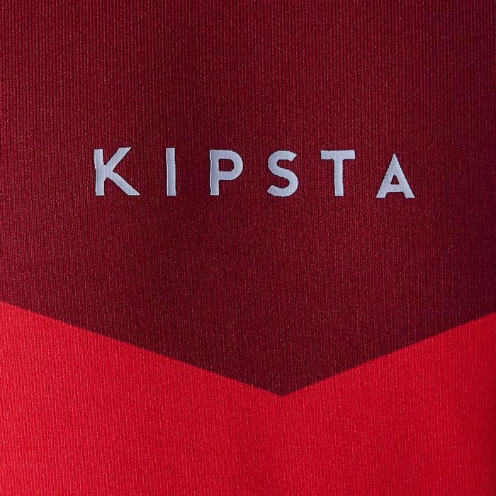 Sous maillot respirant manches longues enfant Keepdry 100 scapulaire rouge