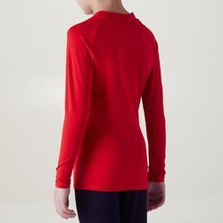 Camiseta térmica transpirable manga larga niños Keepdry 100 escapulario rojo