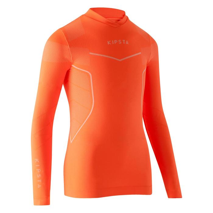 Funktionsshirt langarm Keepdry 500 Kinder neon-orange