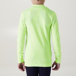 Thermoshirt kind Keepdry 500 met lange mouwen fluogeel