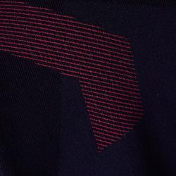 Warm en ademend ondershirt met lange mouwen voor kinderen Keepdry 900 zwart rood