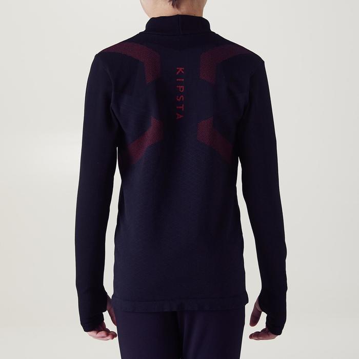 Prenda interior cálida y transpirable manga larga niños Keepdry 900 negro rojo