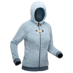 SH100 Women's Ultra-Warm Snow Hiking Fleece Jacket - Ice-Blue