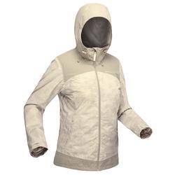 SH100女款冬季健行防雪保暖外套 - 米色
