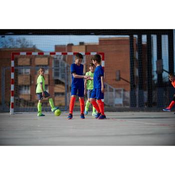 Hallenschuhe Futsal Fußball Agility 500 Kinder blau