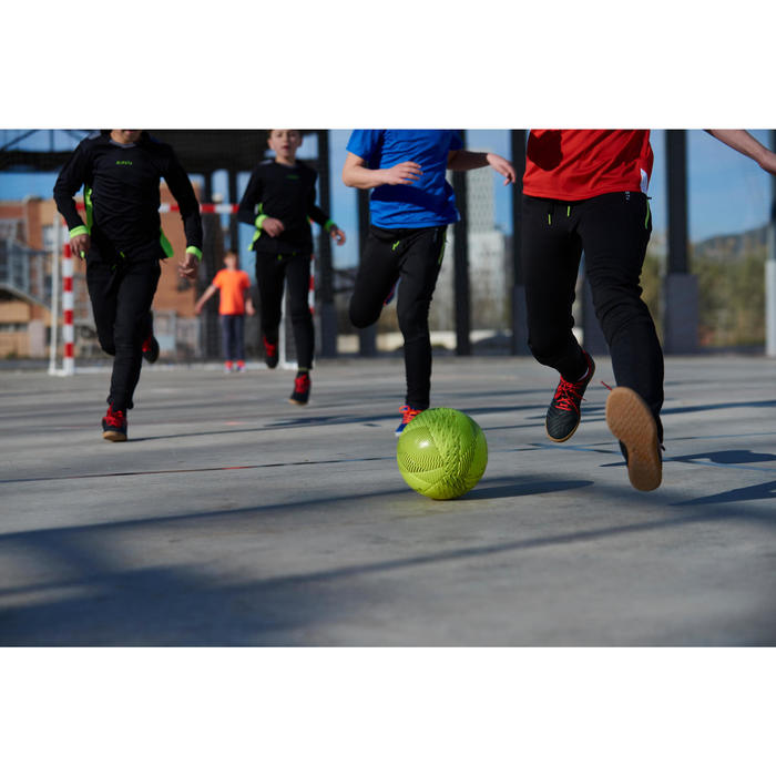 Ballon de Futsal 100 hybride taille 58 cm jaune - 1356862
