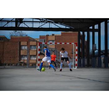 Hallenschuhe Futsal Fußball Agility 100 Kinder blau/gelb