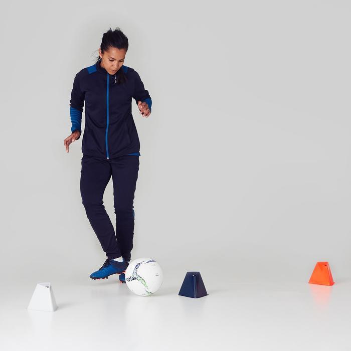 Pantalon d'entraînement de football femme TP500 gris menthe - 1356877