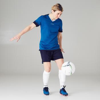 Fußballschuhe Nocken Agility 500 FG Damen blau