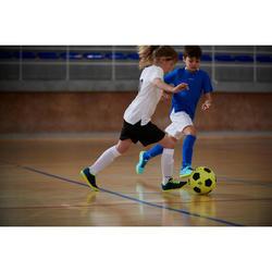 Hallenschuhe Futsal Fußball CLR 500 Klettverschluss Kinder grün