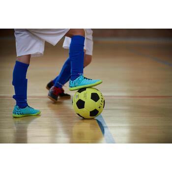 Zaalvoetbalschoenen kind CLR 500 sala klittenband blauw
