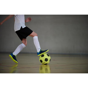Indoor voetbal vilt geel - 1356957