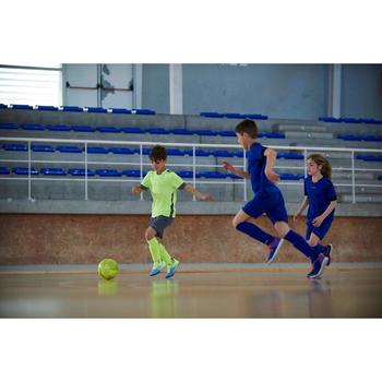 Hallenschuhe Futsal Fussball CLR 500 Kinder blau/orange