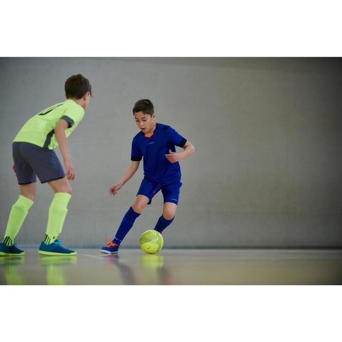 Chaussure de futsal enfant CLR 500 bleue jaune - 1356966