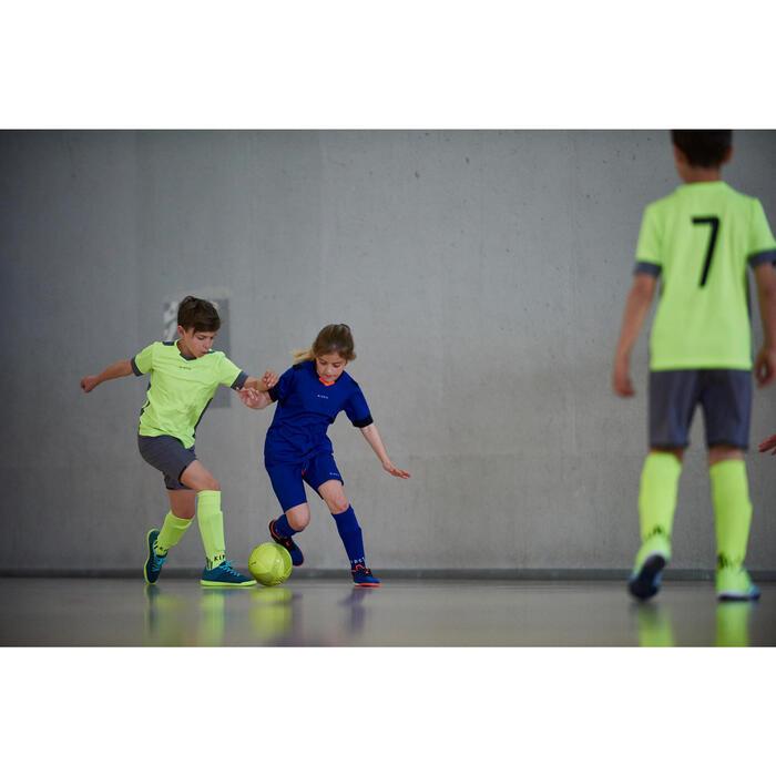 Chaussure de futsal enfant CLR 500 bleue jaune - 1356969