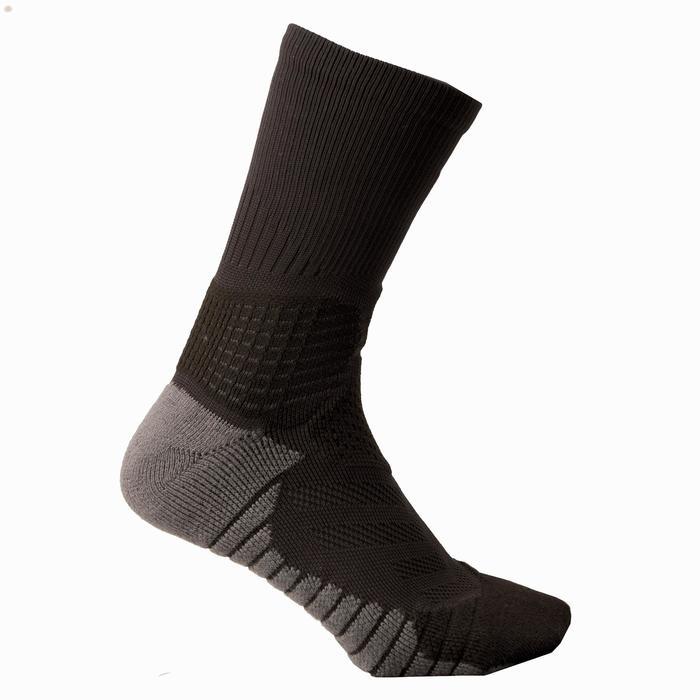 Basketbalsokken heren/dames gevorderden SO900 mid zwart grijs