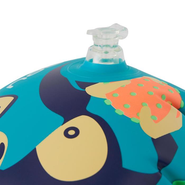 "Manguitos de natación para niño verdes con estampado ""MONO"""
