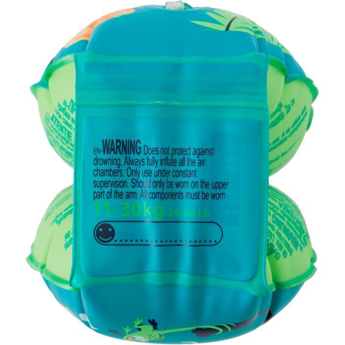 "Brassards de natation enfant verts imprimés ""SINGE"""