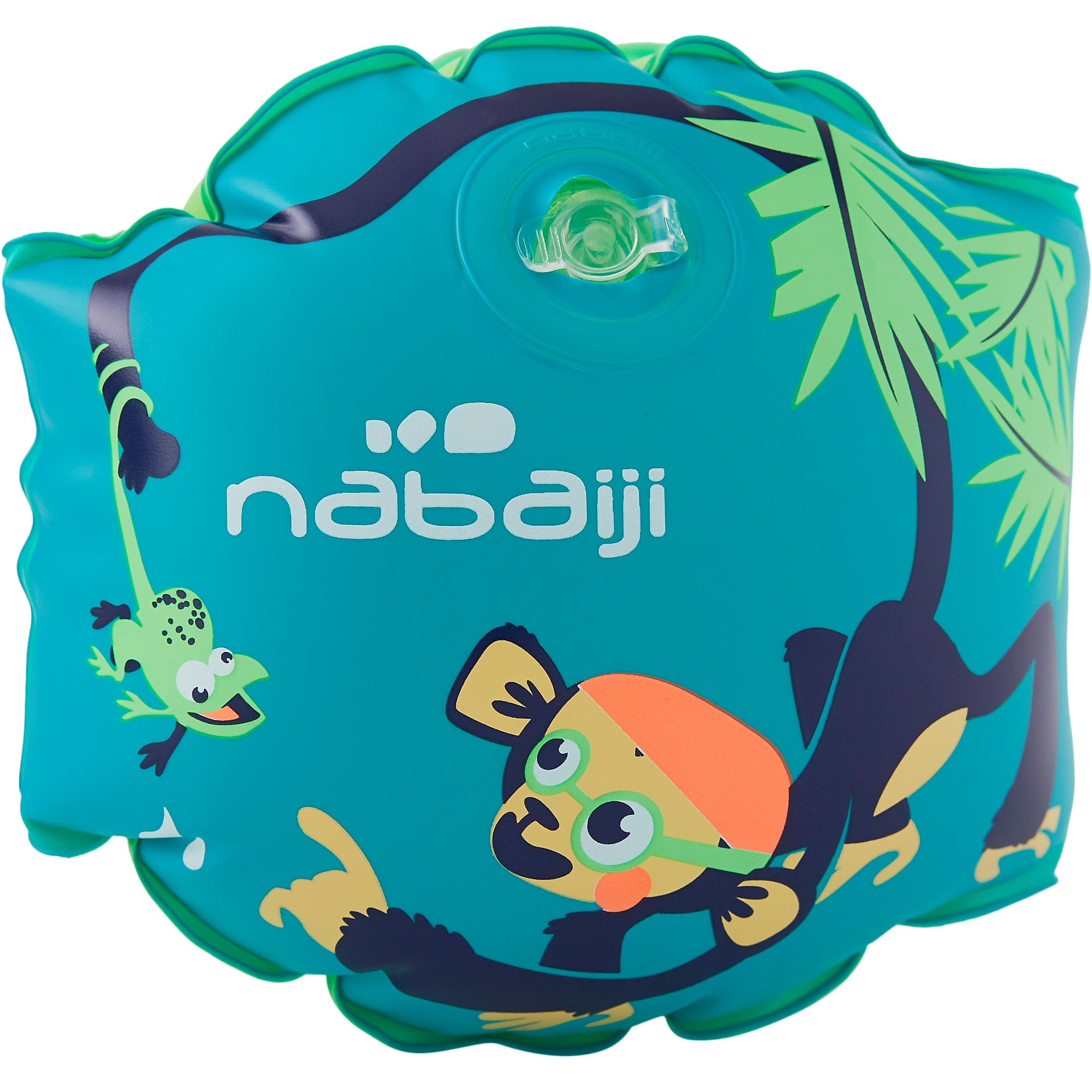 Children's Swimming Armbands - Monkey Print Green