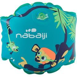 Manguitos Natación Nabaiji Verde/Azul Estampado Chimpancé 11 a 30kg