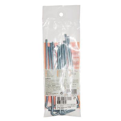 Estacas de carpa: acero 18 cm (x10)