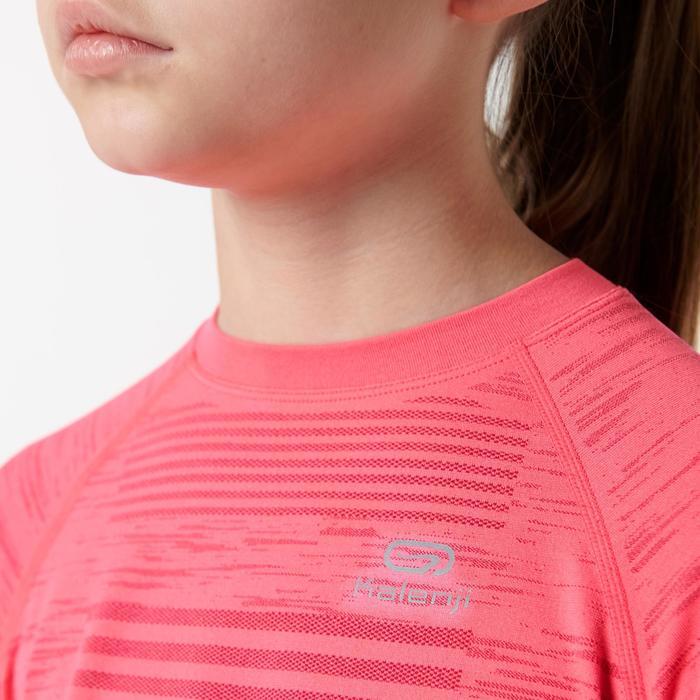 Tee shirt manches longues athlétisme enfant kiprun care rose fluo
