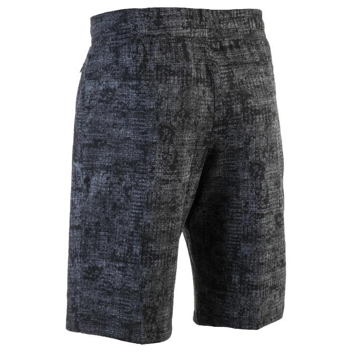 Short 520 slim au dessus du genou Gym & Pilates homme gris printé