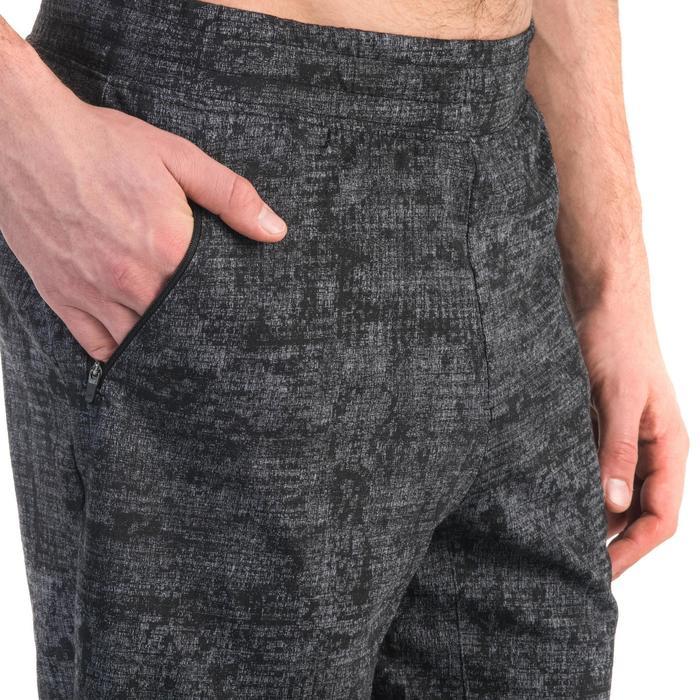 Short 520 slim au dessus du genou Gym Stretching noir homme - 1357104