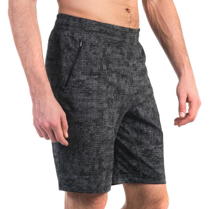 Short 520 slim au dessus du genou Gym Stretching noir homme - 1357107