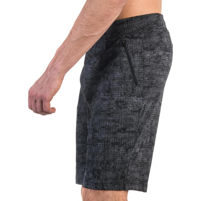 Short 520 slim au dessus du genou Gym Stretching noir homme - 1357108