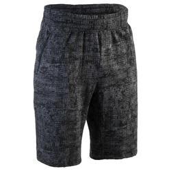 Short 520 slim por encima de rodillas gimnasia y pilates hombre gris estampado