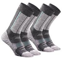SH520 X-Warm Grey Adult Mid Snow Hiking Socks