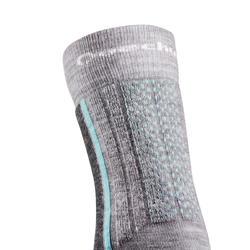 SH520 X-Warm Mid Children's Snow Hiking Socks - Ice/Grey.