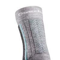 """Vaikiškos pilkos sniego žygių kojinės """"SH520 X-Warm""""."""