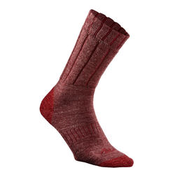 SH100 Warm Mid Burgundy Adult Hiking Snow Socks.
