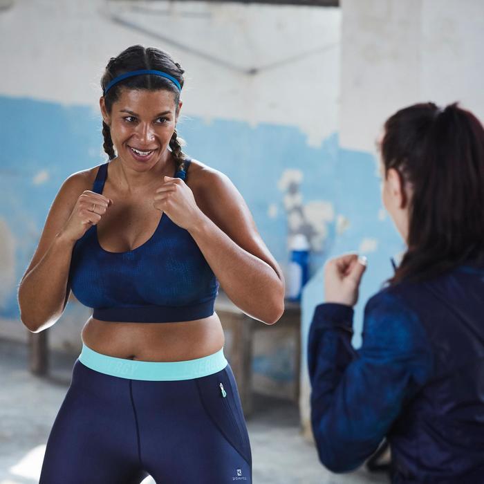 Bandeau élastique (lot de 3) fitness cardio-training femme rose et - 1357179