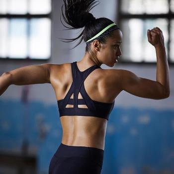 Brassière fitness cardio-training femme noire 900 - 1357185
