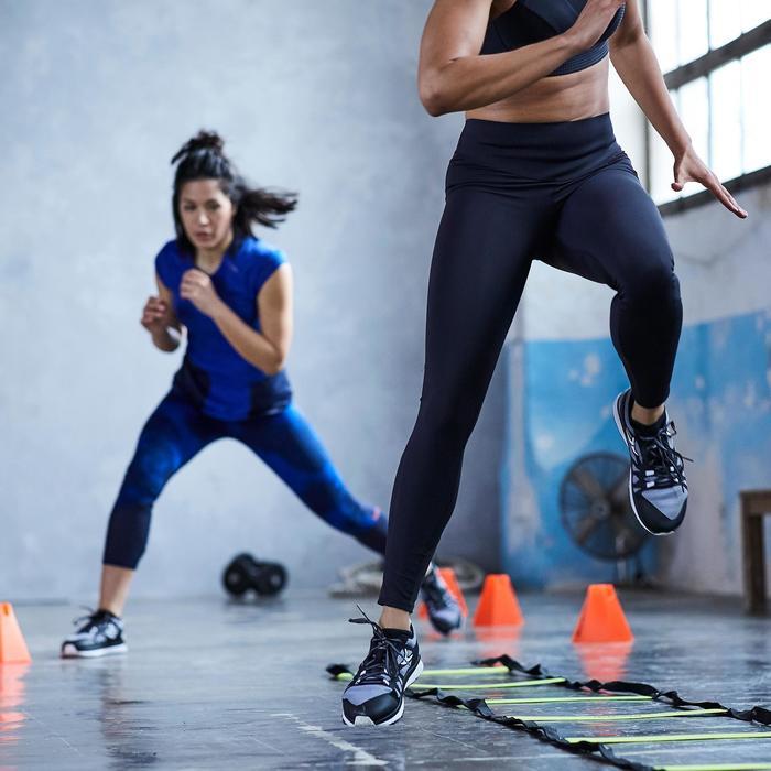 Zapatillas fitness cardio-training 900 mujer Negro y Blanco