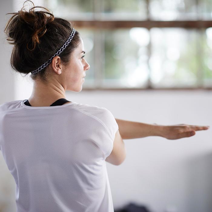 Bandeau élastique (lot de 3) fitness cardio-training femme rose et - 1357202