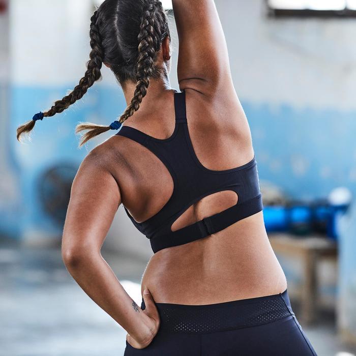 Fitness haarelastiekjes cardiotraining voor dames zwart, blauw en geel