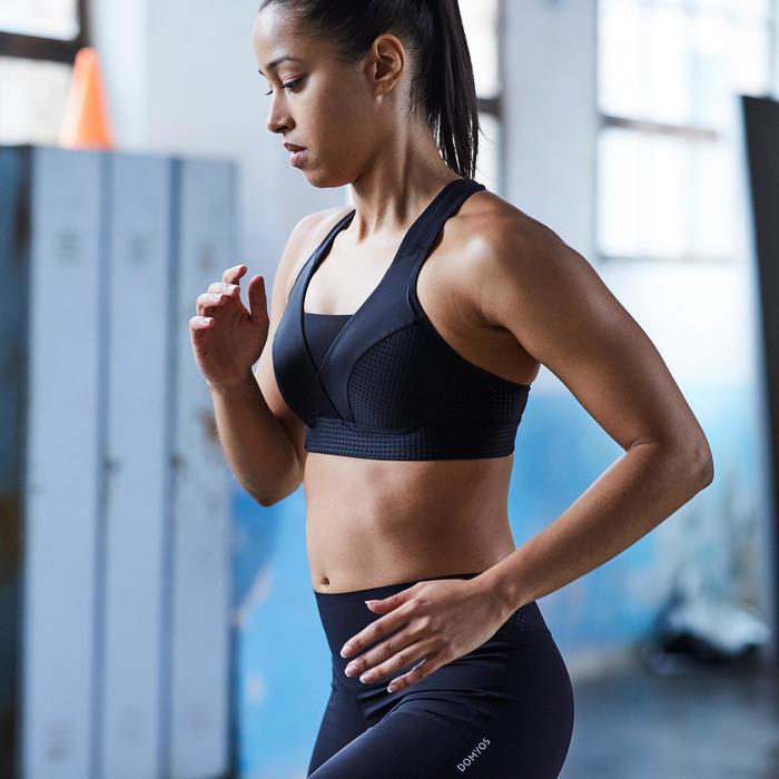 Brassière fitness cardio-training femme noire 900 - 1357212