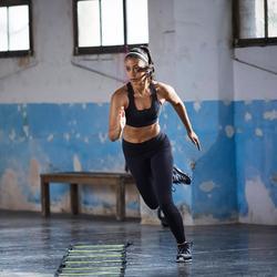 Mallas Leggings Deportivos Fitness Efecto VIENTRE PLANO Domyos 900 mujer negro